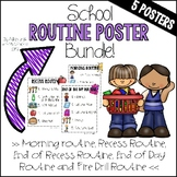School Routine Poster Bundle (PBIS)