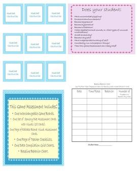 Visual Sensory Diet Game/Assesssment Special Needs Education/ELD