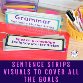 Visual Sentence Starter Strips For Speech & Language