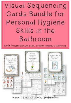 Visual Sequencing Cards for Personal Hygiene Skills in the Bathroom Bundle