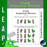 Visual Sequential Memory Worksheets - Distance Learning