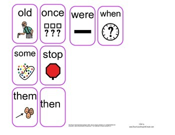 Visual Sight Words 1st grade