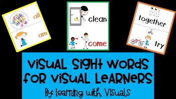 Visual Sight Words for Visual Learners