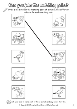 PRE-READING Visual Skills Series 1: Workbook 1 - Odd One Out & Matching Pairs