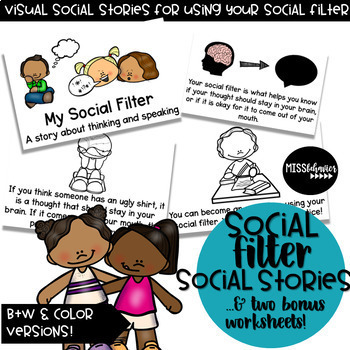 Social Scripts | Visual Social Stories | Social Stories Bundle