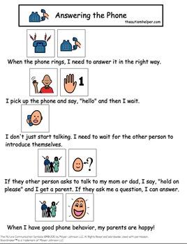 social story listening attentively pdf free