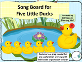 Five Little Ducks Visual Song Board (Assistive Technology)