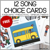 Song Choice Cards - Circle Time, Speech Therapy