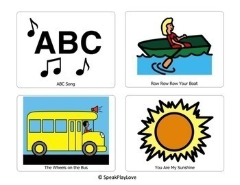 Song Choice Cards - Free - Circle Time, Speech Therapy