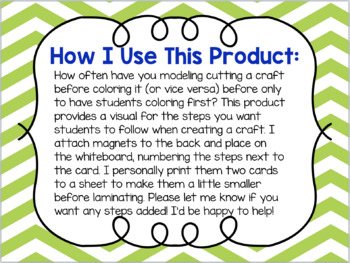 Visual Steps for Classroom Crafts