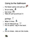 Visual Steps for Toileting - Editable