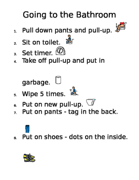Visual Steps for Toileting - Editable