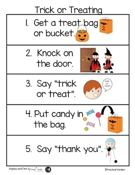 Visual Steps to Trick or Treat