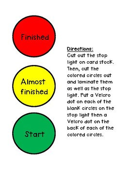 Visual Stoplight Countdown