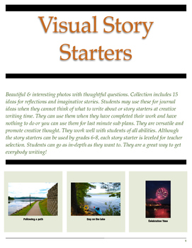 Visual Story Starters - Middle School Collection 1 - Reluc