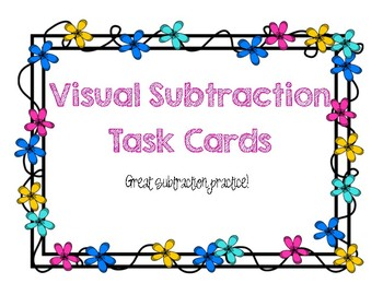 Visual Subtraction Task Cards
