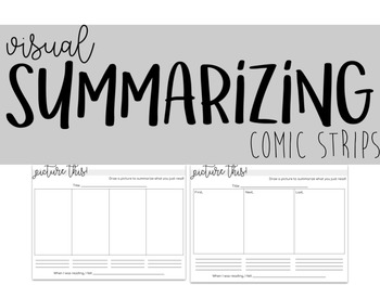 Visual Summary Worksheets | Summary Graphic Organizers