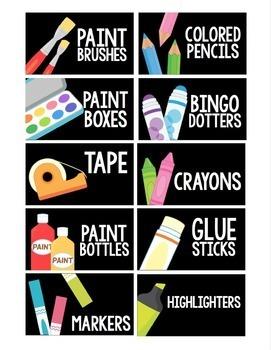 Visual Supply Labels {Black Series}