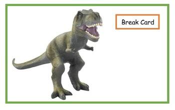 Visual Support Desk Mat: Dinosaurs