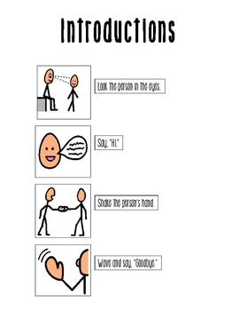 Visual Support- Introductions