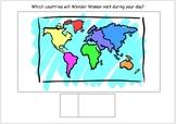Visual Support Mat SIMPLE: Wonderwoman