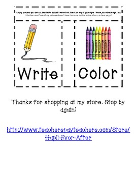 Visual Support and Signs for Directions in Kindergarten