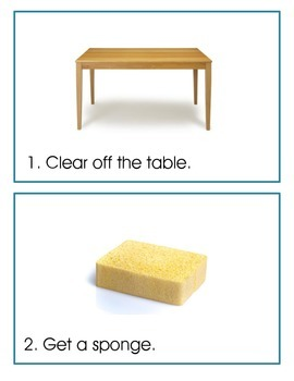 Visual Support for Chores – Cleaning the Table