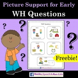 WH Questions - Visual Support for Early Intervention Speech Therapy