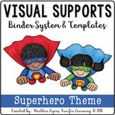 Visual Supports Binder System {Superhero Theme}