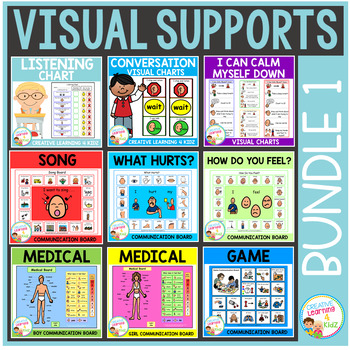 Visual Supports Bundle 1 Special Education Autism