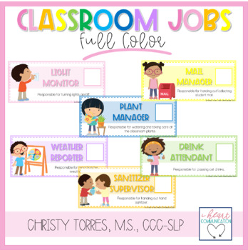 Visual Supports Classroom Labels & Student Helper Signs