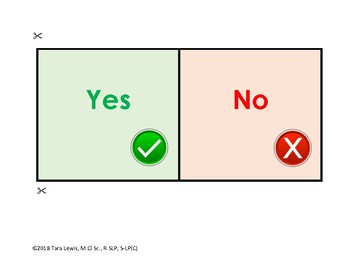 Visual Supports - First/Then, Yes/No