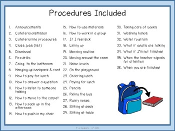 Visual Supports For Teaching Classroom Procedures