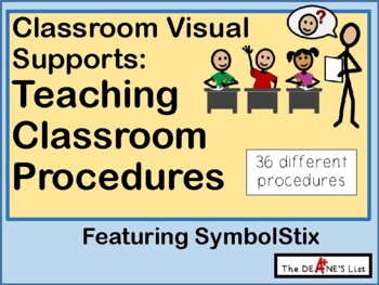 Visual Supports For Teaching Classroom Procedures (with SymbolStix)