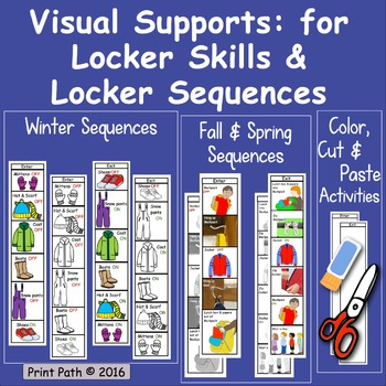 Winter Routines, Fall & Spring Dressing, Locker Skills: Visual Supports
