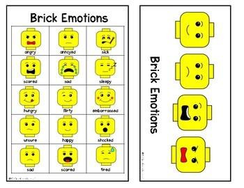 Visual Supports: Plastic Brick Themed Behavior Supports