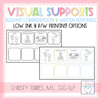 Visual Supports - Reading Comprehension & Written Response
