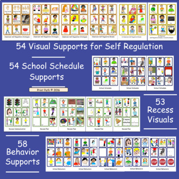EDITABLE Visual Schedules for Special Education with Self-Reg & Class Inclusion