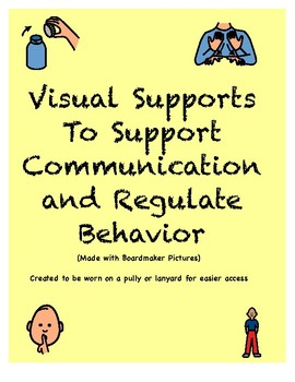 Visual Supports for Behavior/Communication (Autism, Lanyard)