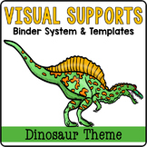 Visual Supports Binder System {Dinosaur Theme}
