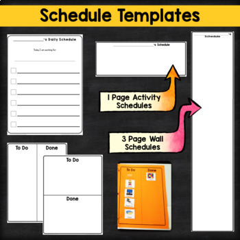 Visual Supports Binder System {Generic Templates}