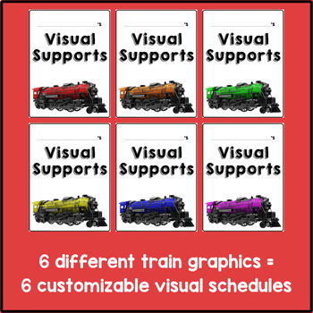 Visual Supports System {Trains Theme}