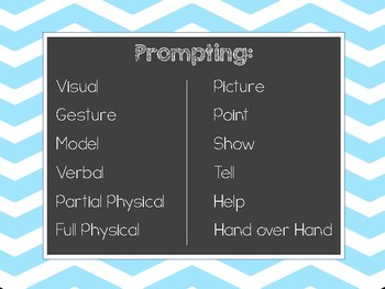Visual Supports for Staff - DTT Reminders