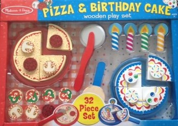 Visual Supports/AAC for Pizza and Birthday Cake Toys