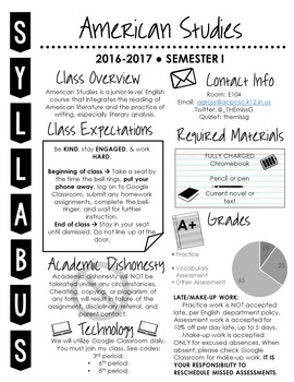 Visual Syllabus Editable Template -- Create your own -- GREYSCALE VERSION 2