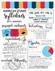Visual Syllabus Editable Template -- Create your own -- VIBRANT THEME