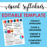 Visual Syllabus Editable Template -- Create your own -- VIBRANT THEME