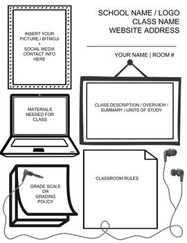Visual Syllabus - Template, Example, and Directions
