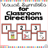 Visual Directions for the Classroom Red Polka Dot