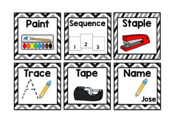 Visual Symbols for Classroom Directions: Black Chevron